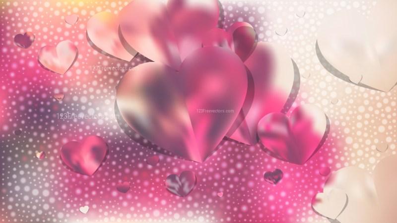Pink and Beige Valentines Background