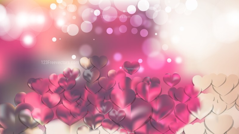 Pink and Beige Love Background