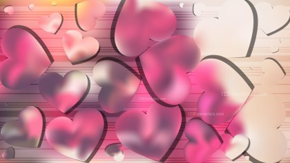 Pink and Beige Heart Background Graphic