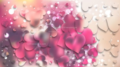 Pink and Beige Valentines Day Background Design