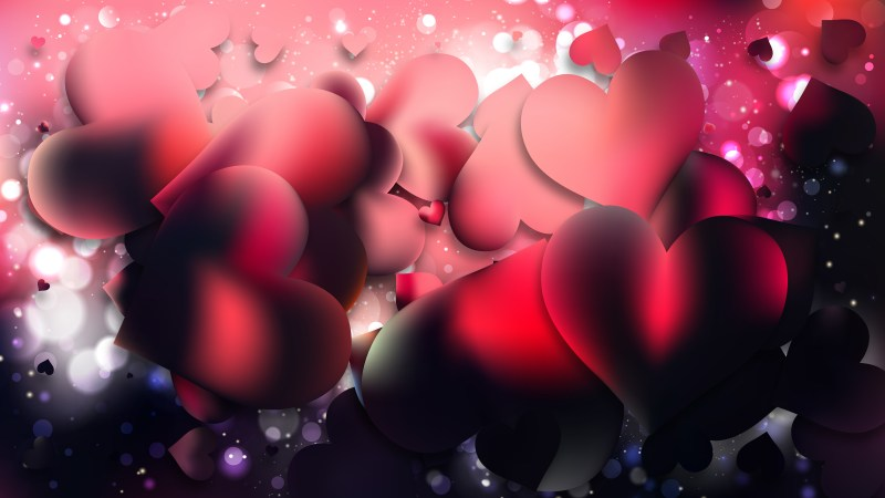Pink and Black Love Background