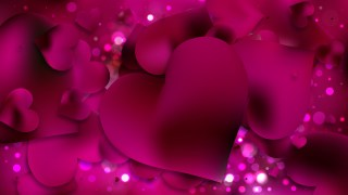 Pink and Black Valentines Day Background Vector Graphic