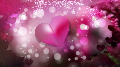 Pink and Black Heart Background Vector Graphic