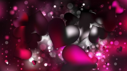 Pink and Black Heart Wallpaper Background Vector Image