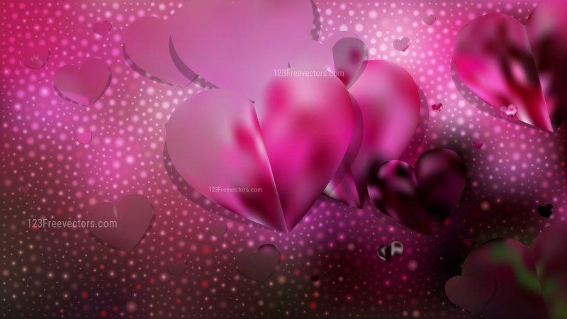 Pink and Black Valentines Day Background Illustrator