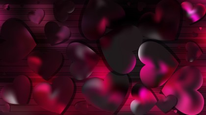 Pink and Black Love Background Vector Art