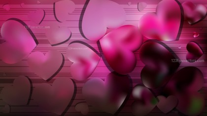 Pink and Black Heart Background