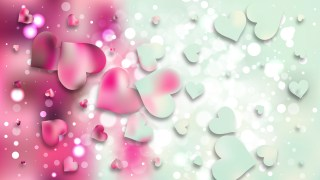 Pink and Blue Heart Background Illustrator