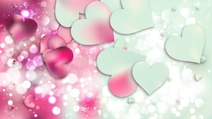 Pink and Blue Valentines Day Background Vector