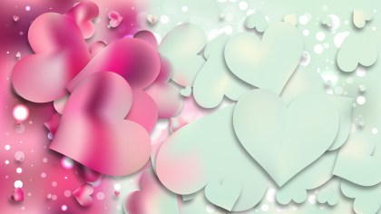 Pink and Blue Valentines Background Vector Art