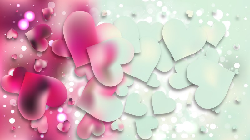 Pink and Blue Love Background Illustration