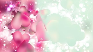 Pink and Blue Heart Background