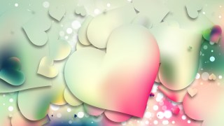 Pink and Blue Heart Wallpaper Background