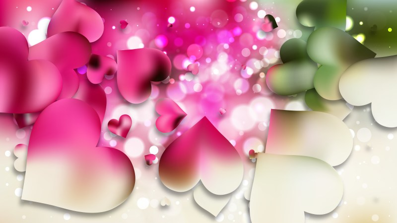 Pink and Green Love Background Image