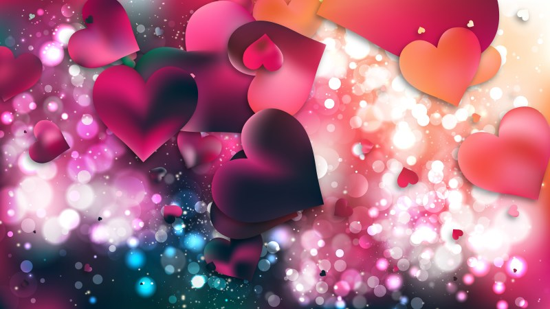 Pink and Green Heart Background