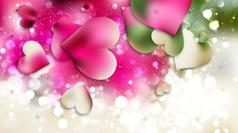 Pink and Green Valentines Day Background