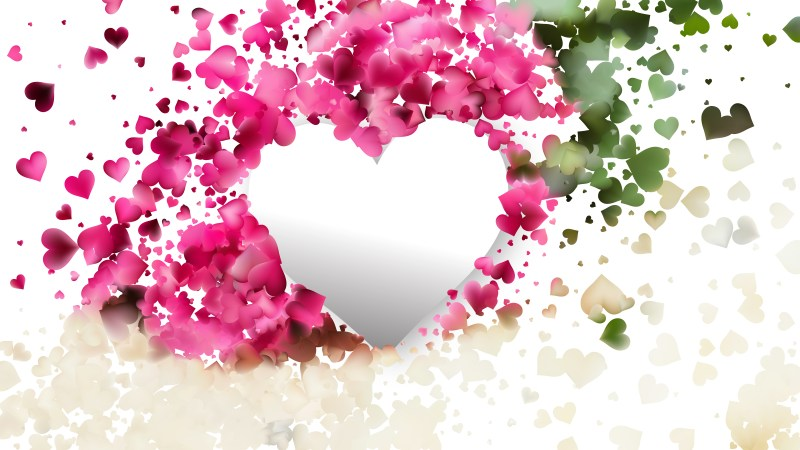 Pink and Green Valentine Background
