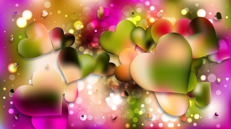 Pink and Green Love Background