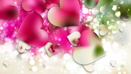 Pink and Green Heart Background Graphic