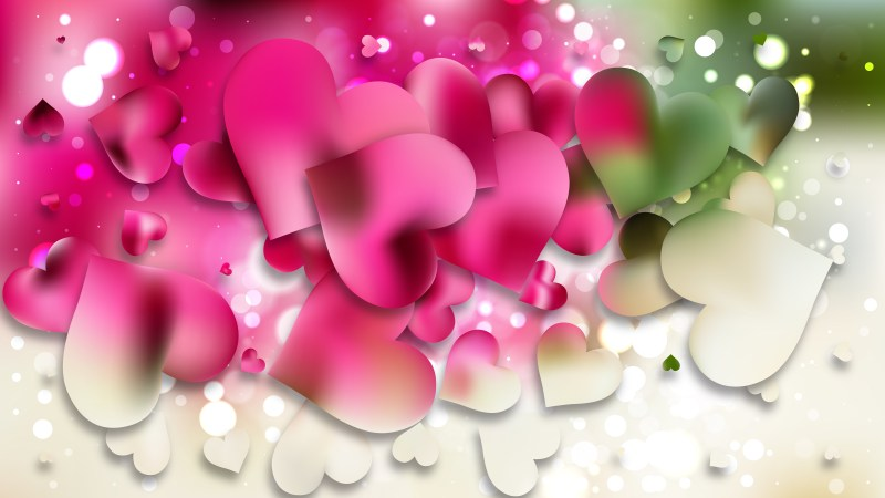 Pink and Green Valentines Day Background Design