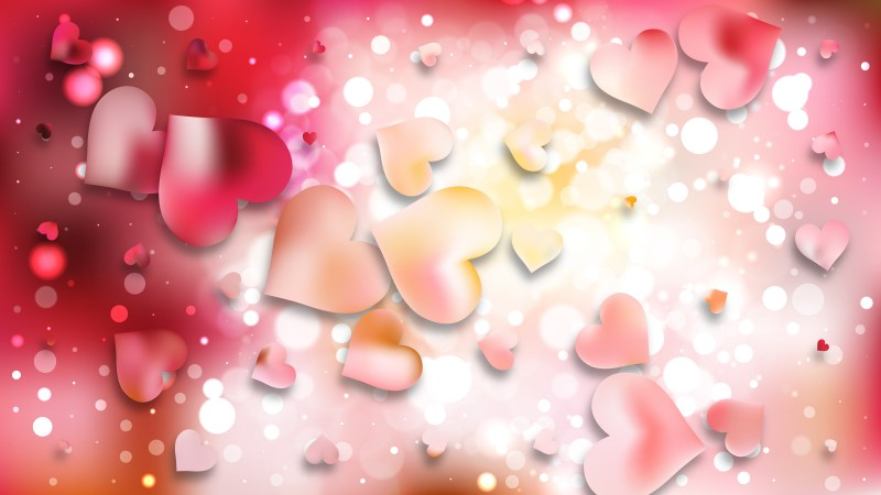 Pink and White Romantic Background