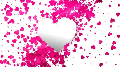 Pink and White Heart Background Vector