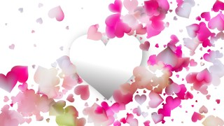 Pink and White Valentines Day Background Graphic