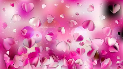 Pink and White Valentine Background Design