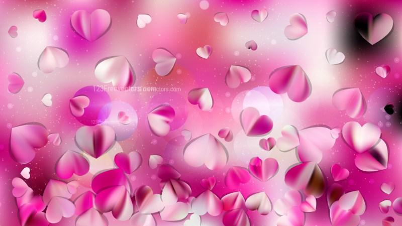 Pink and White Valentine Background Design