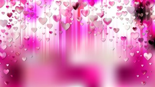 Pink and White Heart Background Graphic