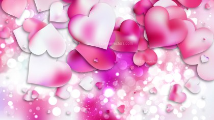 Pink and White Valentines Day Background Design