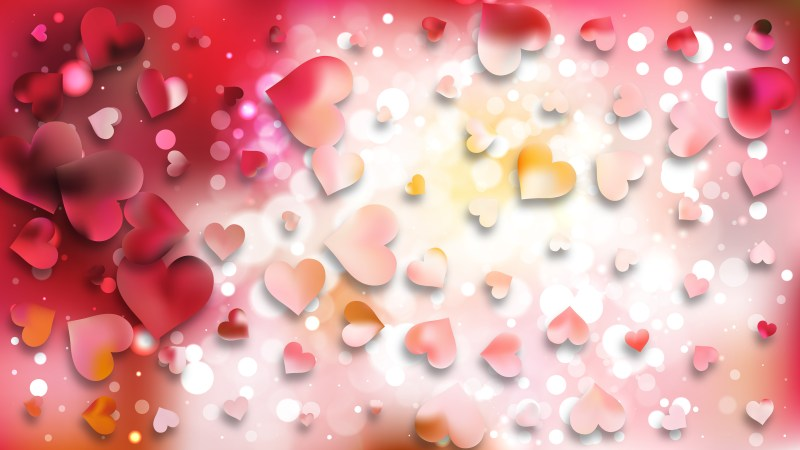 Pink and White Valentines Background Image