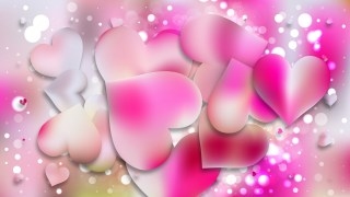 Pink and White Valentine Background Vector Graphic