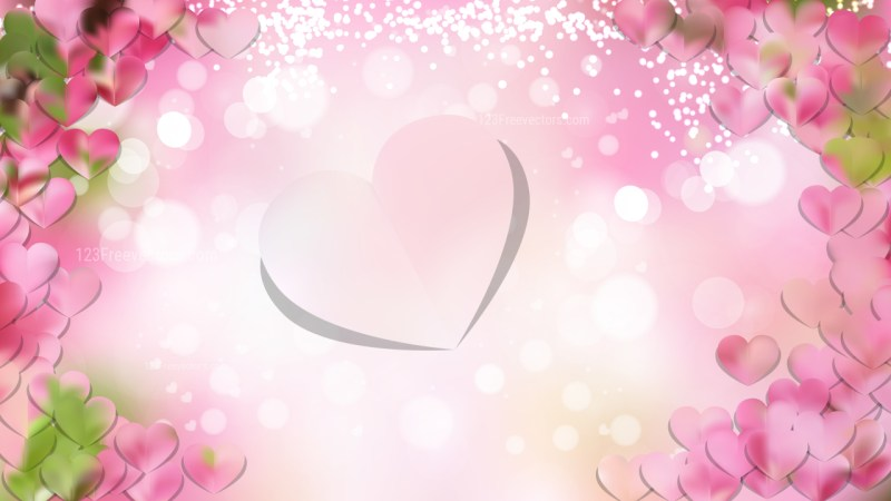 Pink and White Love Background Vector Image