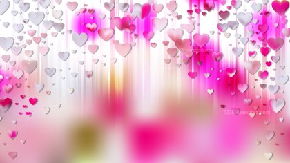 Pink and White Valentines Day Background