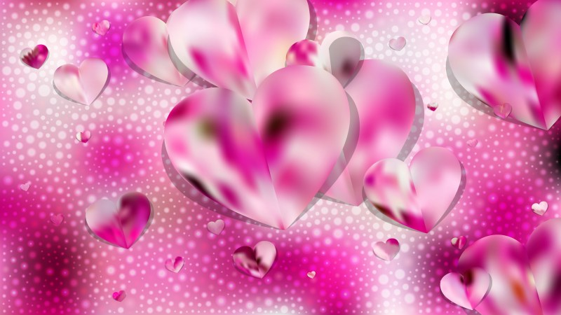 Pink and White Valentine Background
