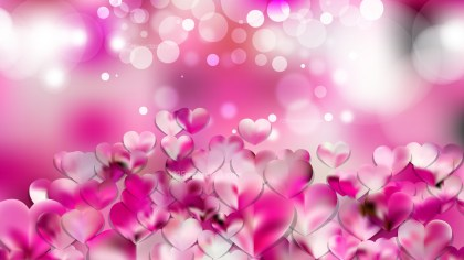 Pink and White Heart Wallpaper Background Image