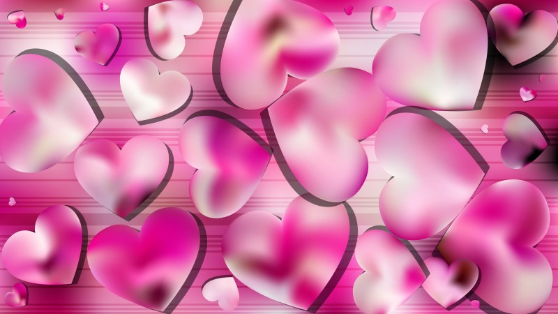Pink and White Valentine Background Illustrator