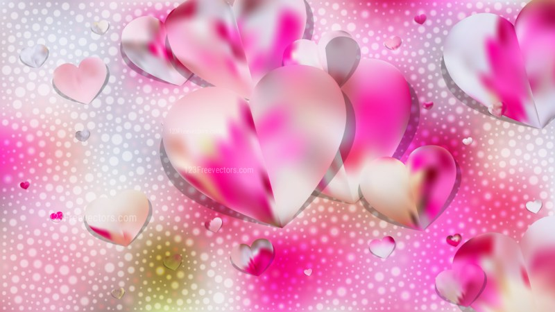 Pink and White Love Background Vector Illustration