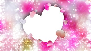 Pink and White Heart Wallpaper Background Vector Image