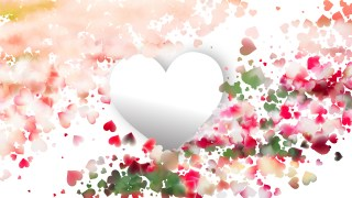Pink and White Valentine Background Vector