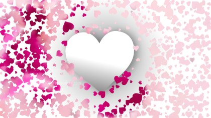 Pink and White Love Background Vector Art