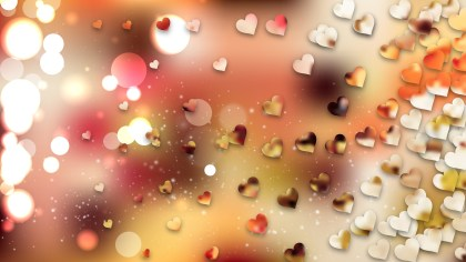 Pink and Yellow Valentines Day Background Vector