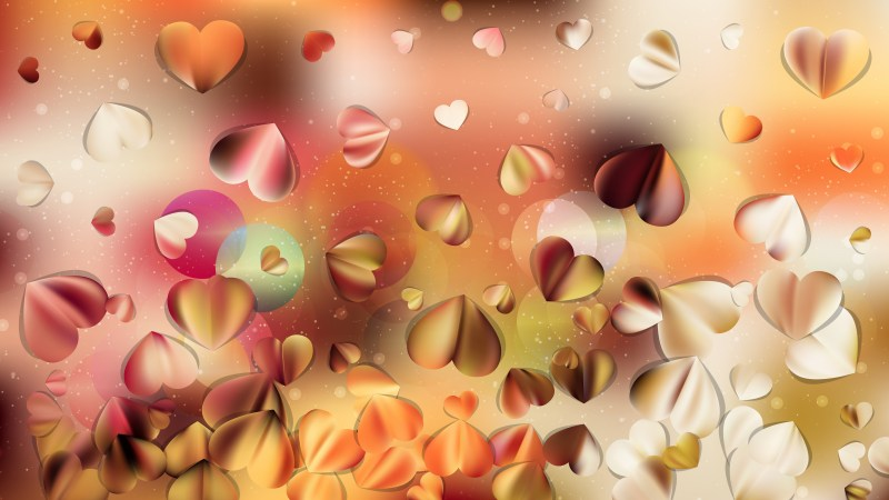 Pink and Yellow Valentines Day Background Graphic