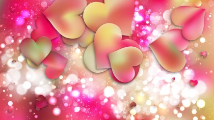 Pink and Yellow Valentines Card Background