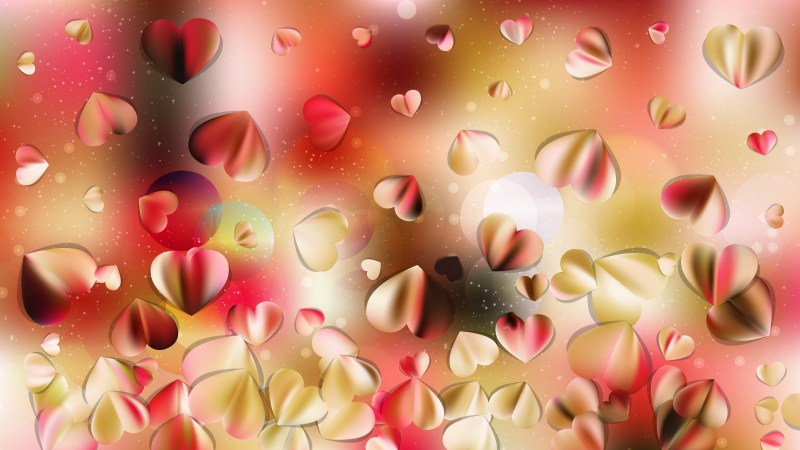 Pink and Yellow Romantic Background