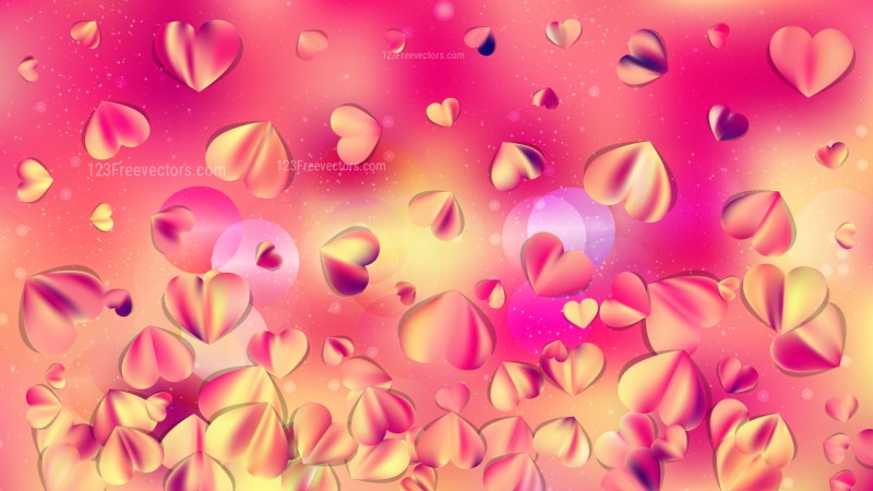Pink and Yellow February Background