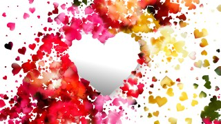 Pink and Yellow Heart Background