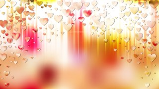 Pink and Yellow Valentines Day Background