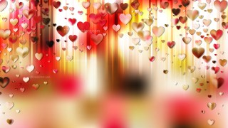 Pink and Yellow Valentine Background Graphic